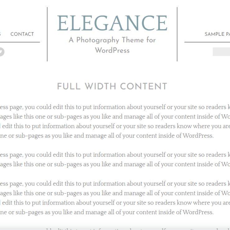 Elegance full width