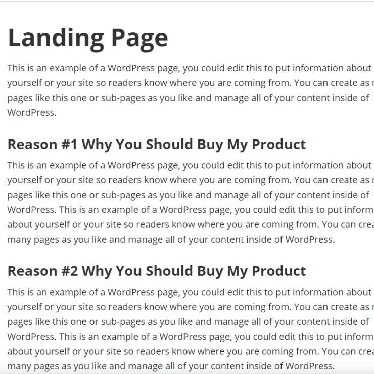 Executive Pro Landing Page