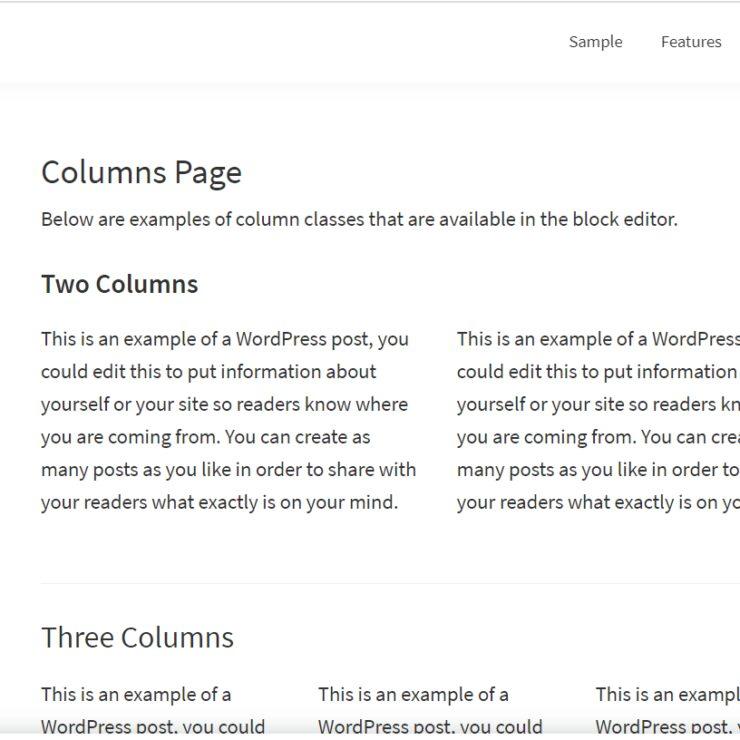 Genesis Framework columns