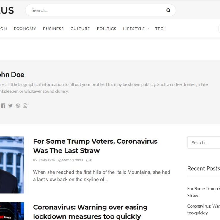 JNews Theme Author Page