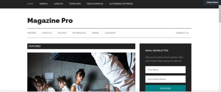 Magazine Pro Home