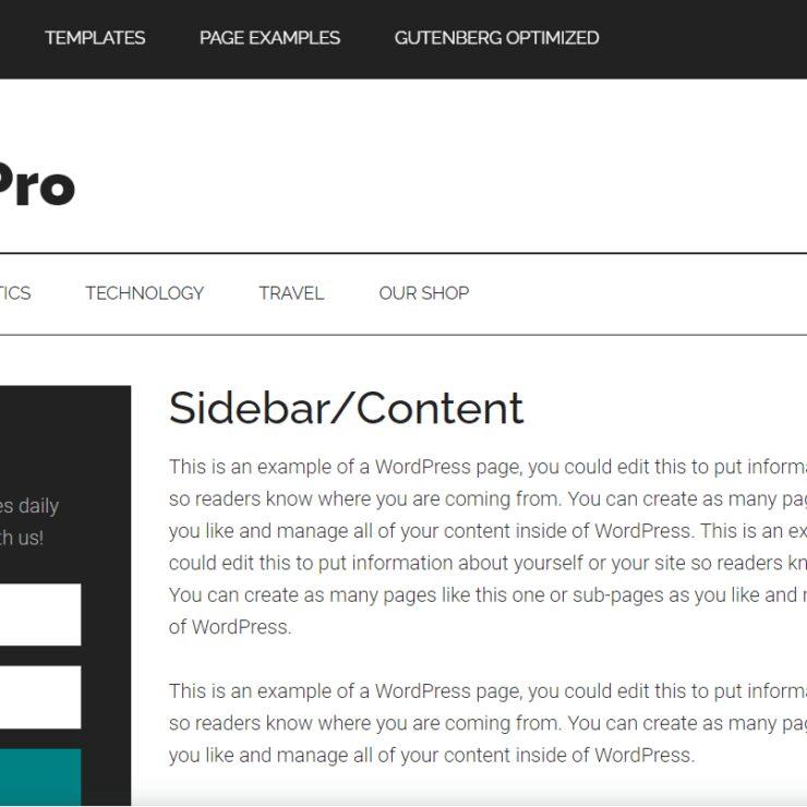 Magazine Pro Left Sidebar