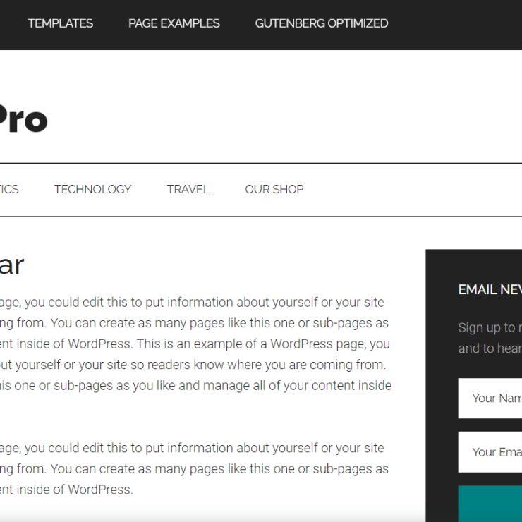 Magazine Pro Sidebar